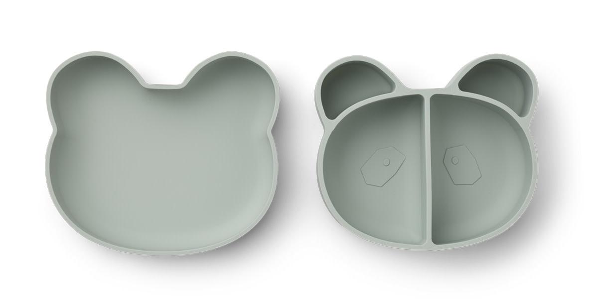 Vita lunch box panda dusty mint-1