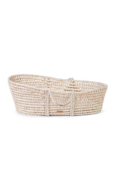 Moses basket soft corn husk natural with mattress
