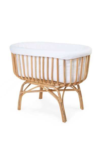Rattan cradle cover jersey off-white