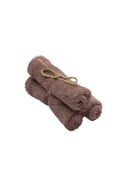 Set van 3 handdoekjes 29,5x50 mellow mauve