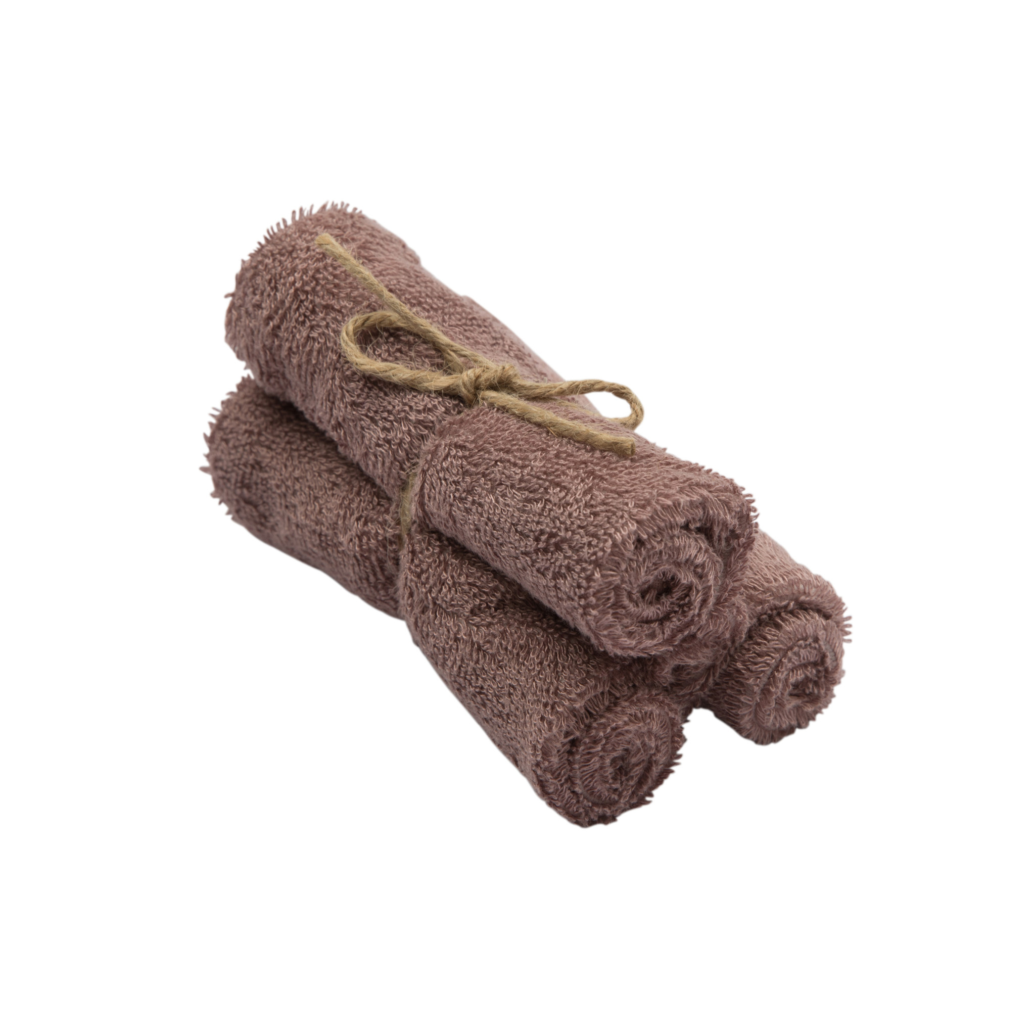 Set van 3 handdoekjes 29,5x50 mellow mauve-1