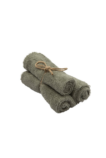 Set van 3 handdoekjes 29,5x50 whisper green