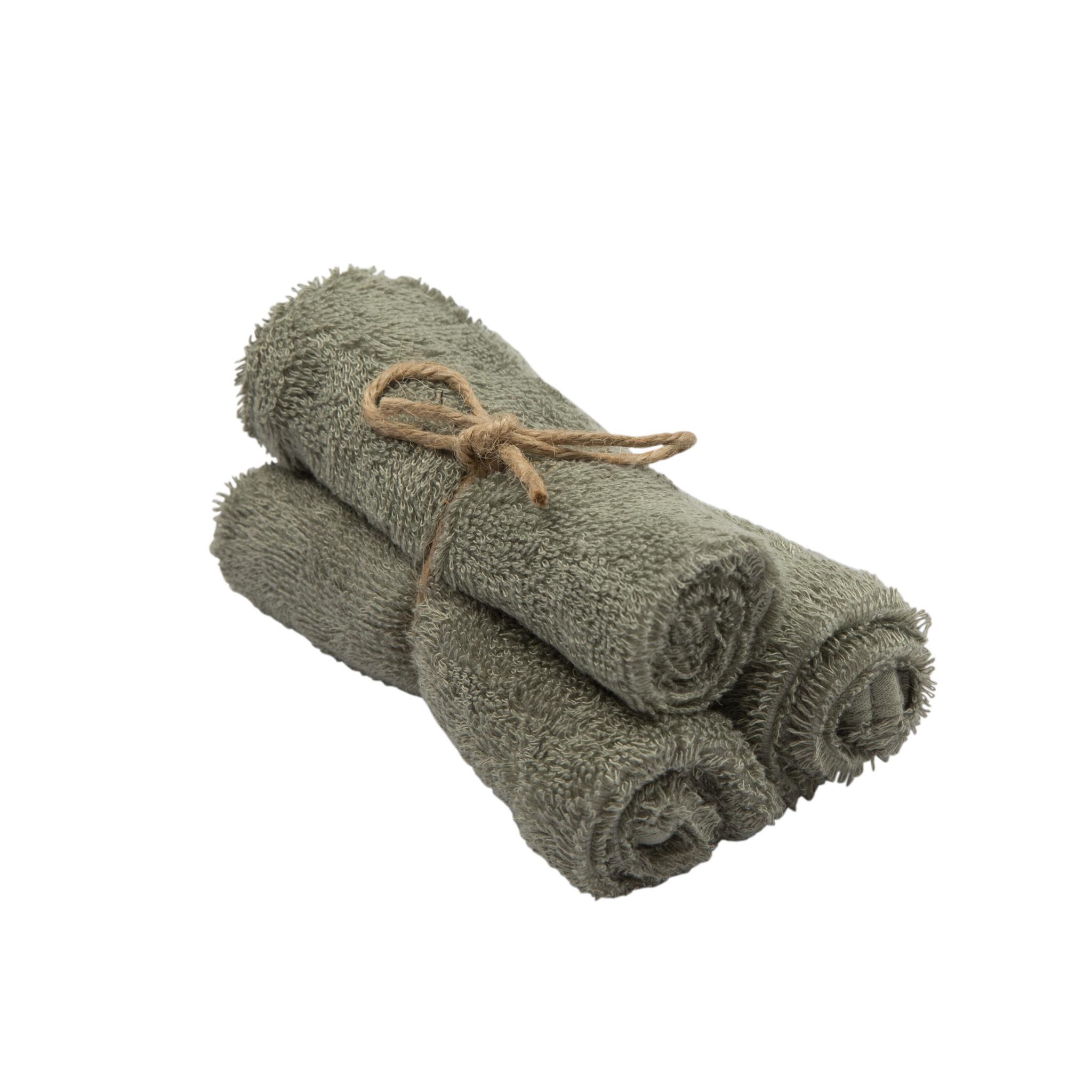Set van 3 handdoekjes 29,5x50 whisper green-1