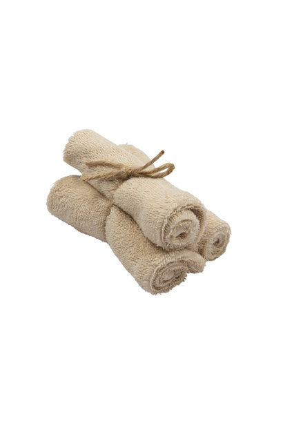 Set van 3 handdoekjes 29,5x50 frosted almond