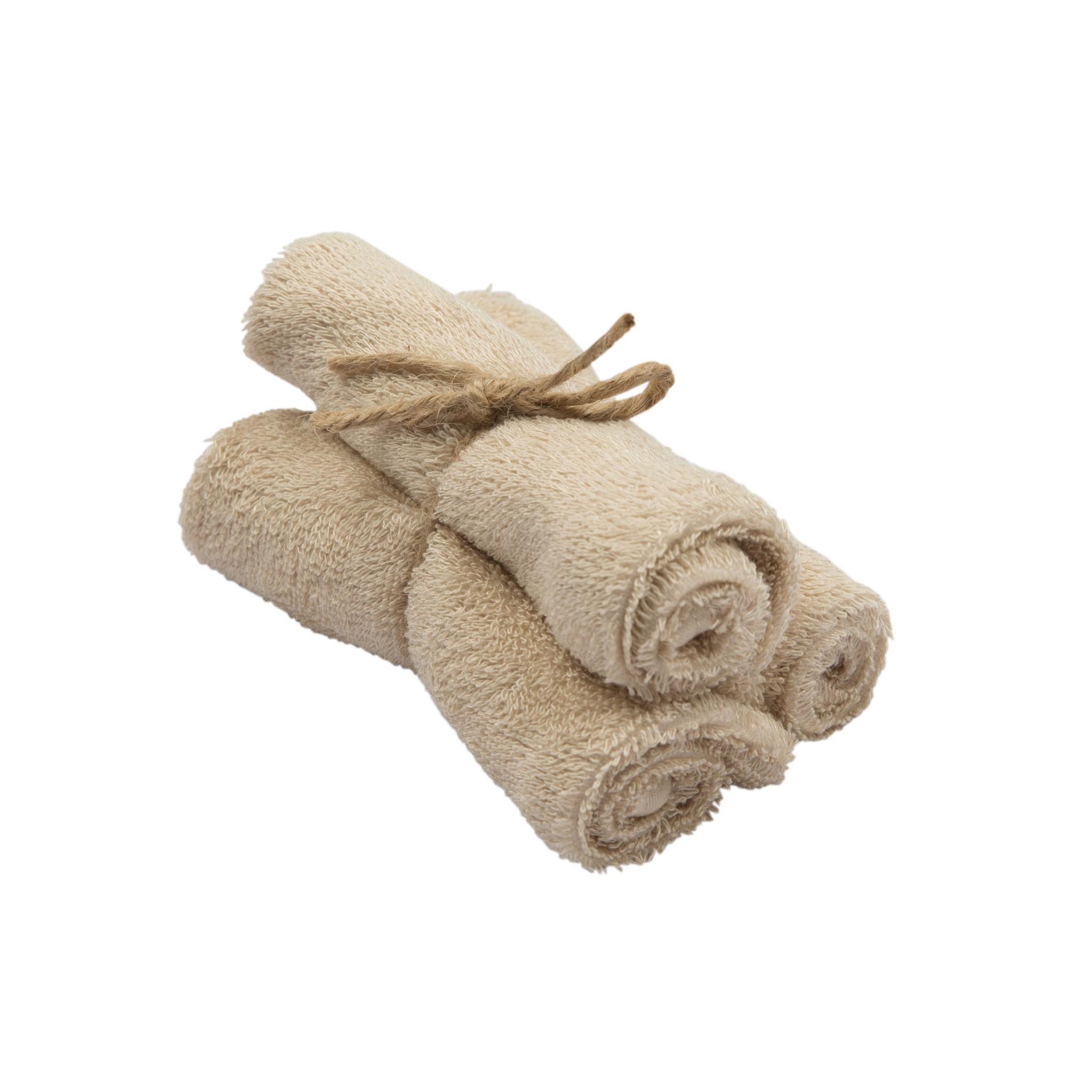 Set van 3 handdoekjes 29,5x50 frosted almond-1