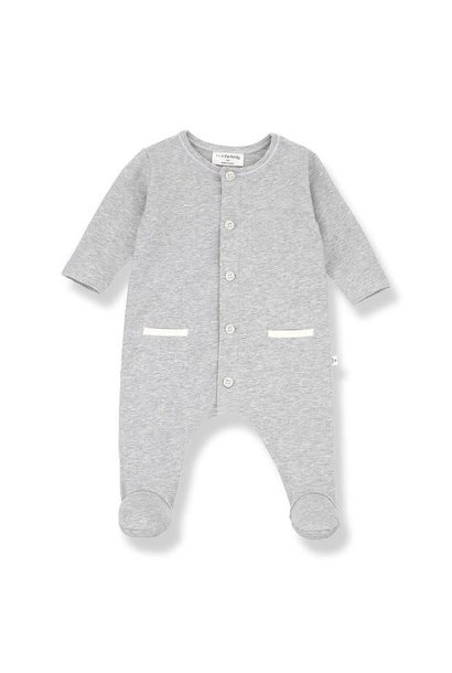 Jad jumsuit with feet grey melange