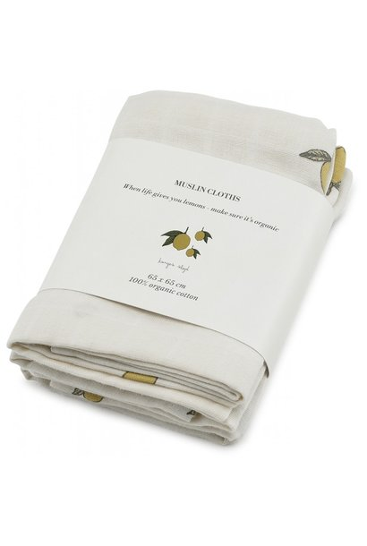 Muslin cloth lemon - 3 pack