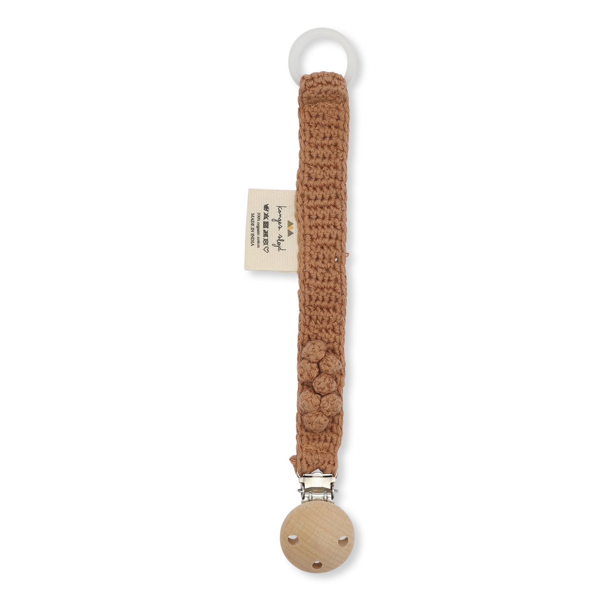 Pacifier strap knit cotton sahara-1