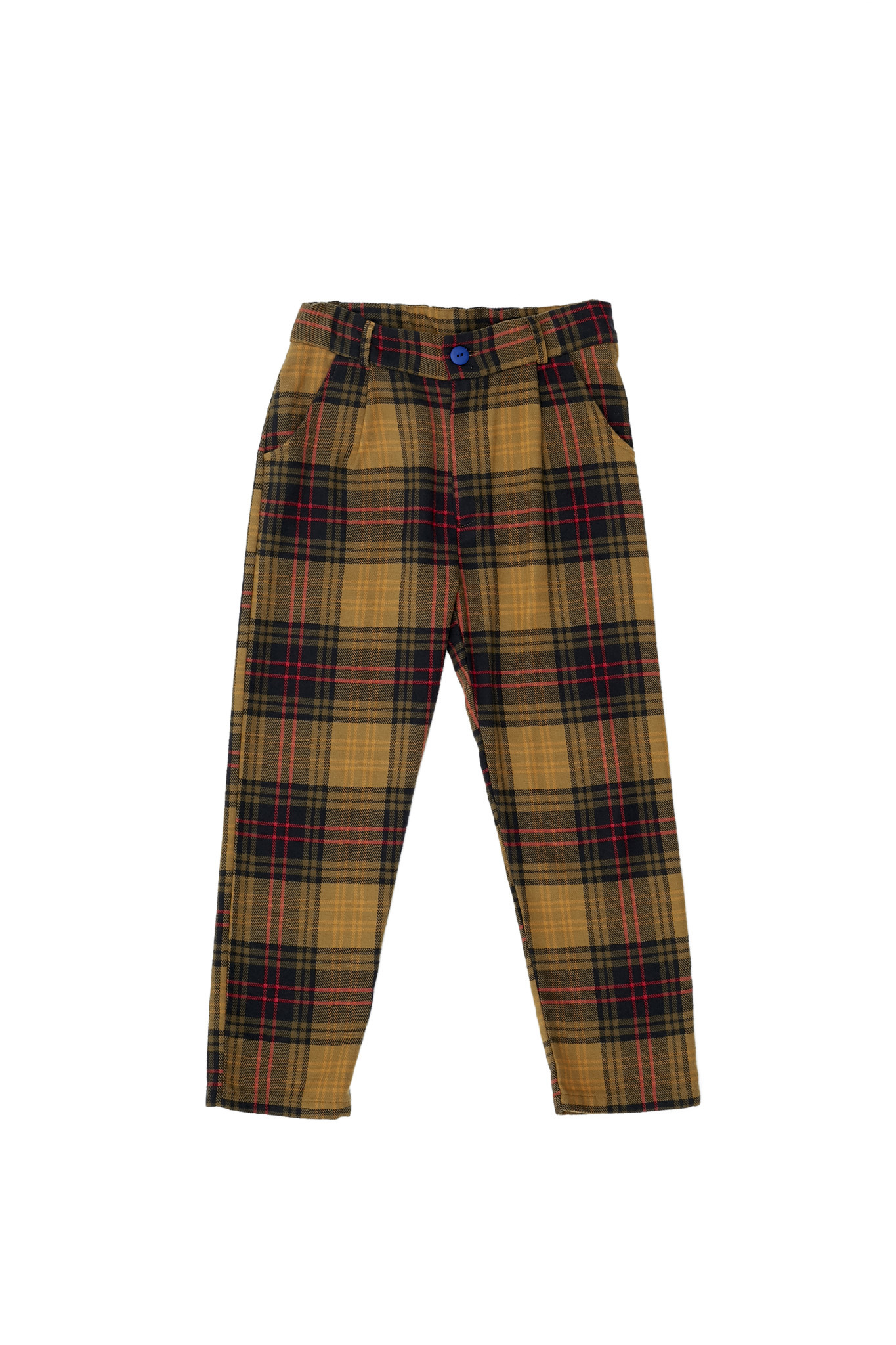 Checked trousers yellow-1