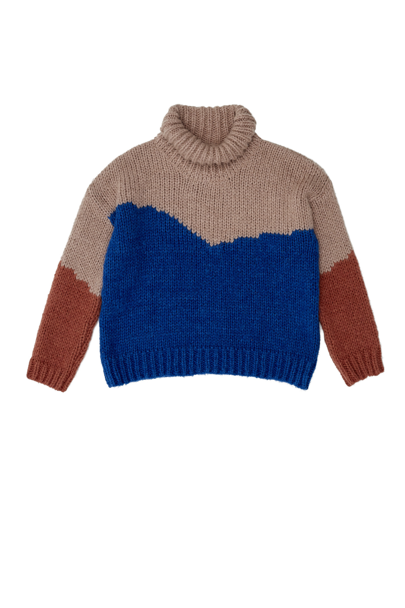 Color block sweater pink-1