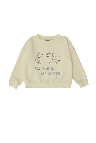 Dogs sweatshirt beige
