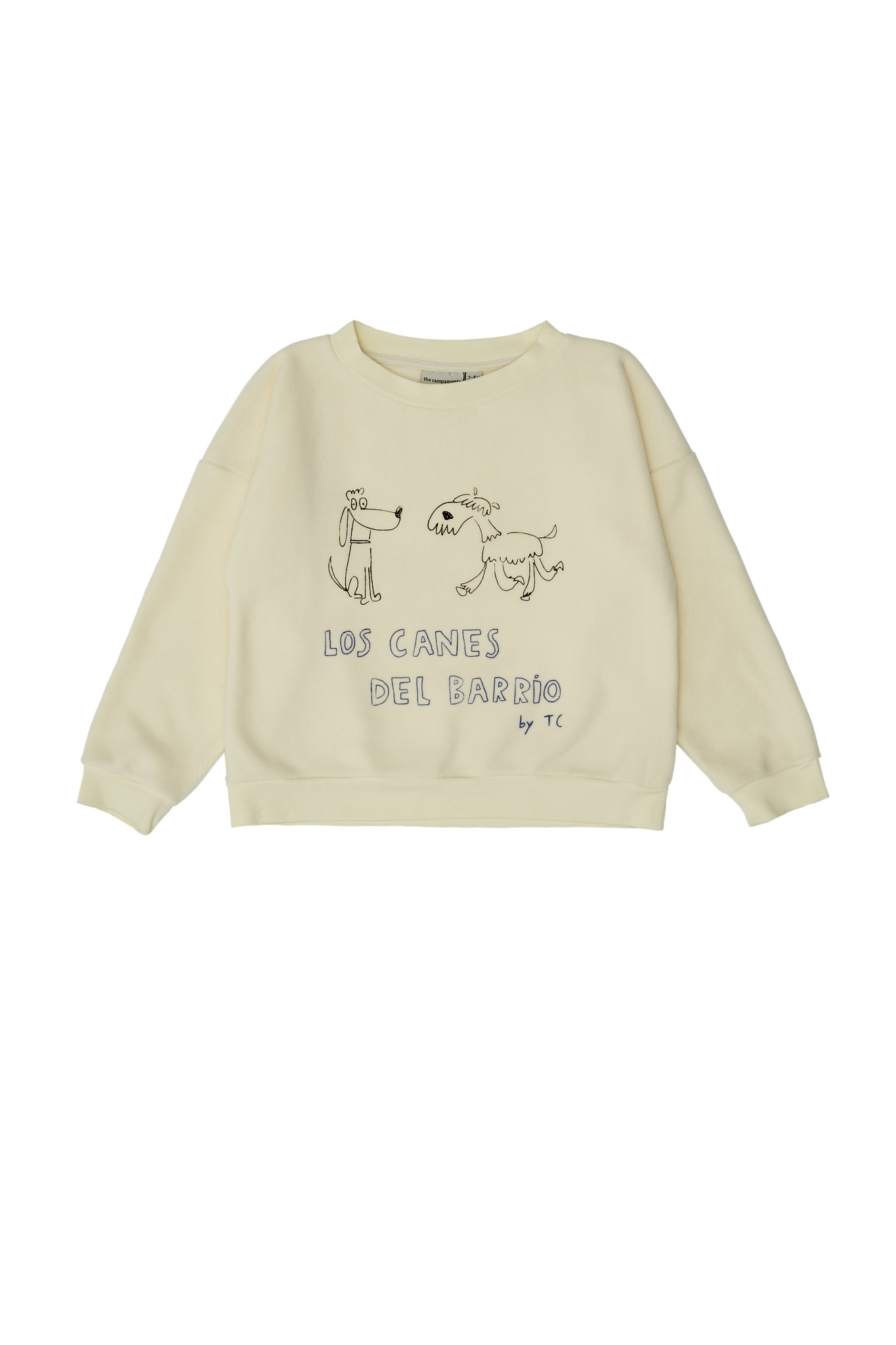 Dogs sweatshirt beige-1