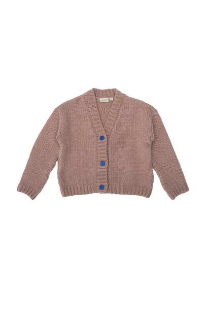 Knitted jacquet pink