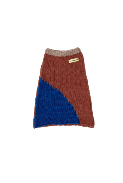 Knitted skirt blue