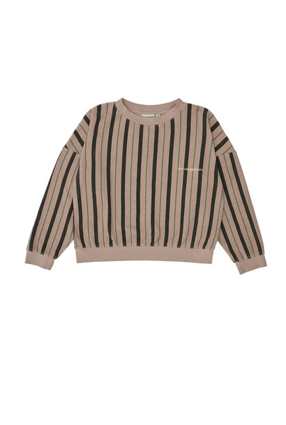 Stripes sweatshirt pink