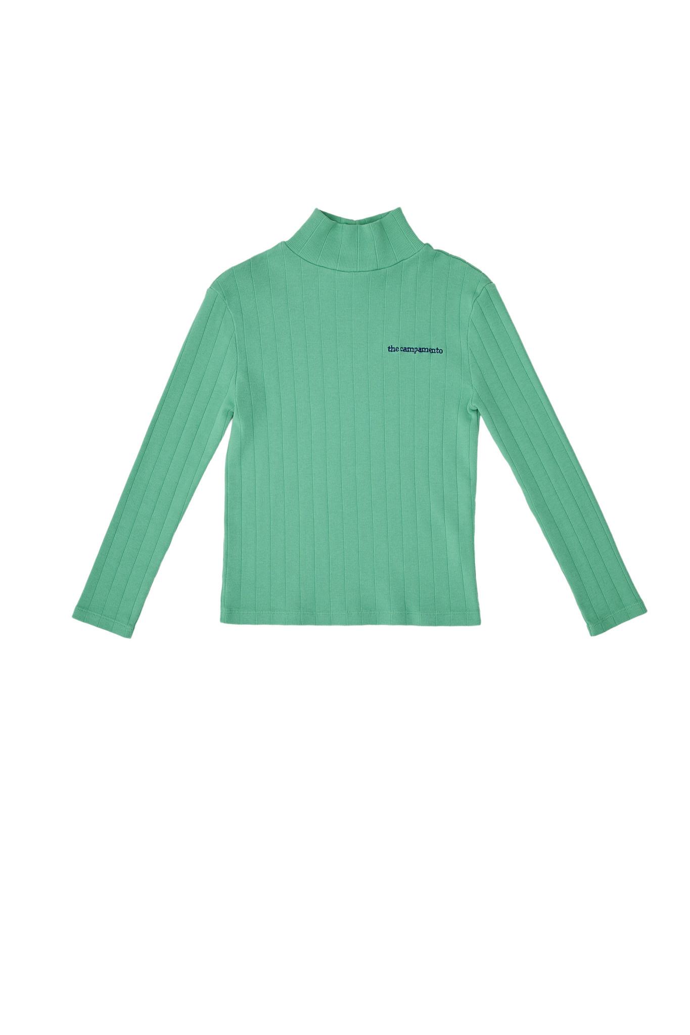 Turtle neck tshirt green-1