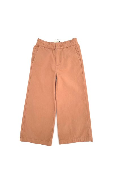 Canvas baby pants red dust