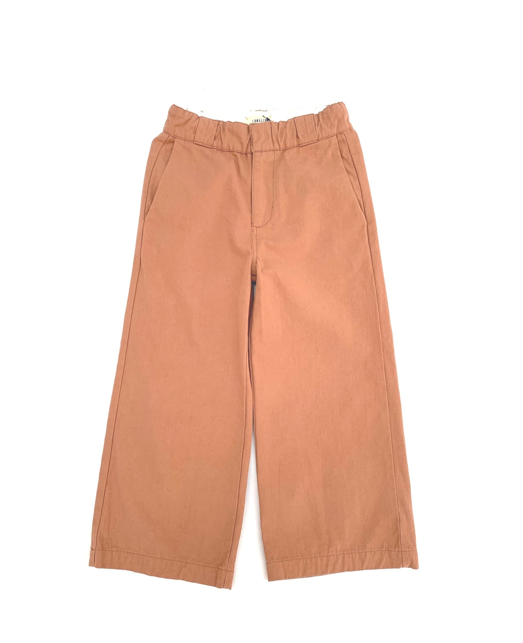 Canvas baby pants red dust-1