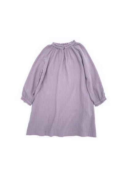 Crinkle wide dress lavender