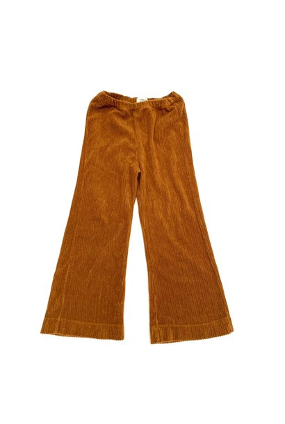 Flared baby pants golden brown