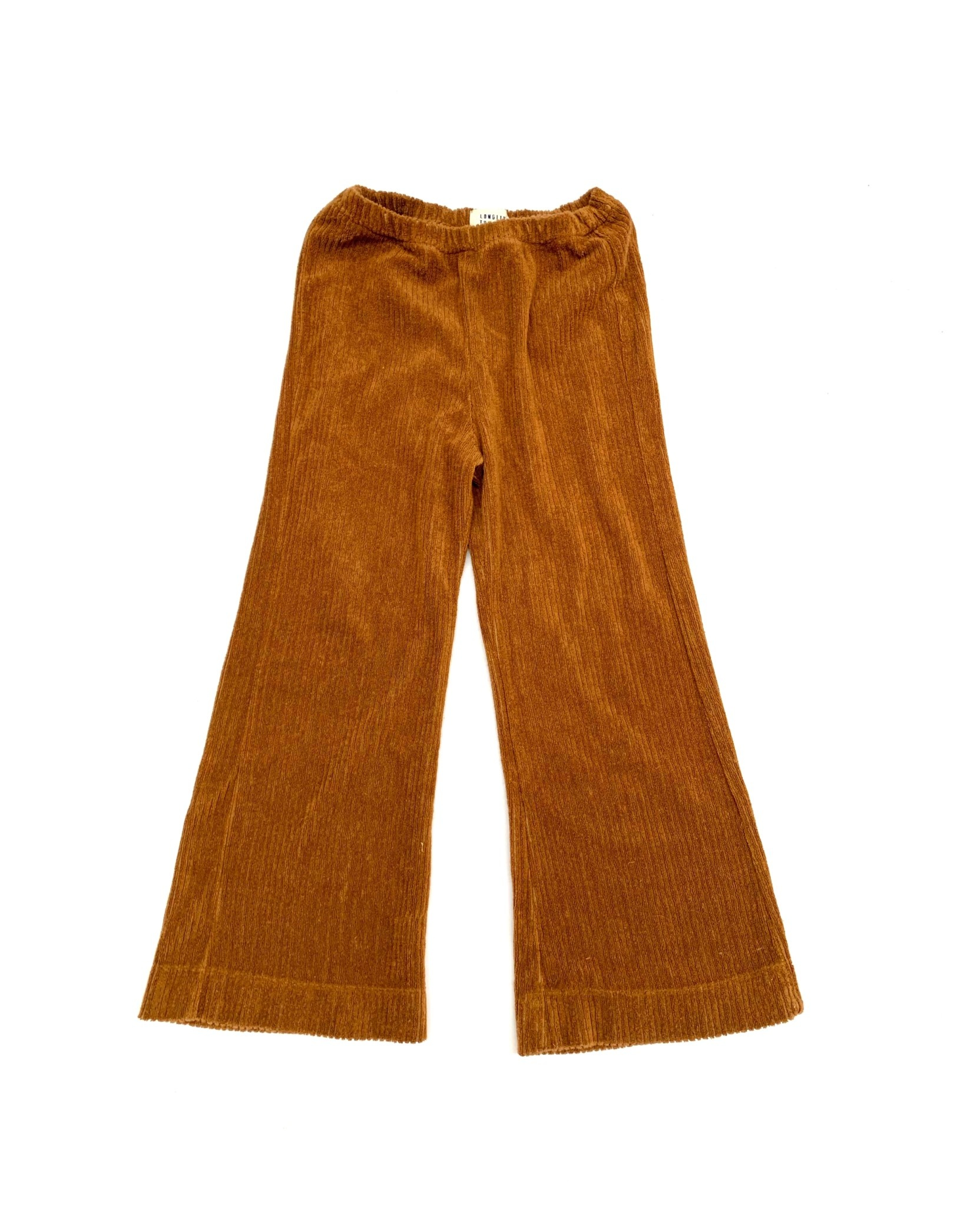 Flared baby pants golden brown-1