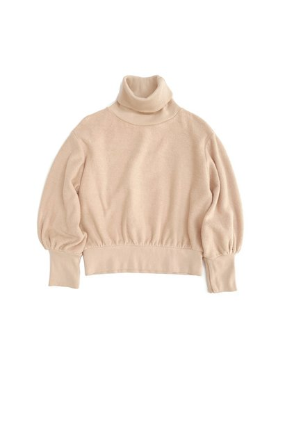 Terry collsweater natural