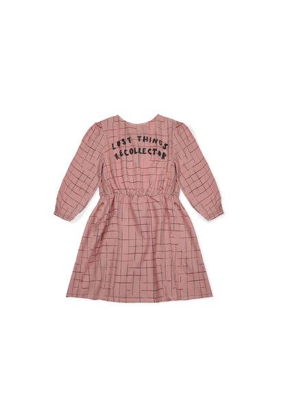Grid woven dress