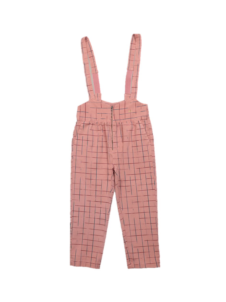 Grid braces pants-1