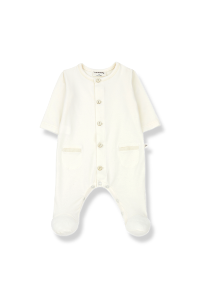 Alizee jumpsuit with feet ecru