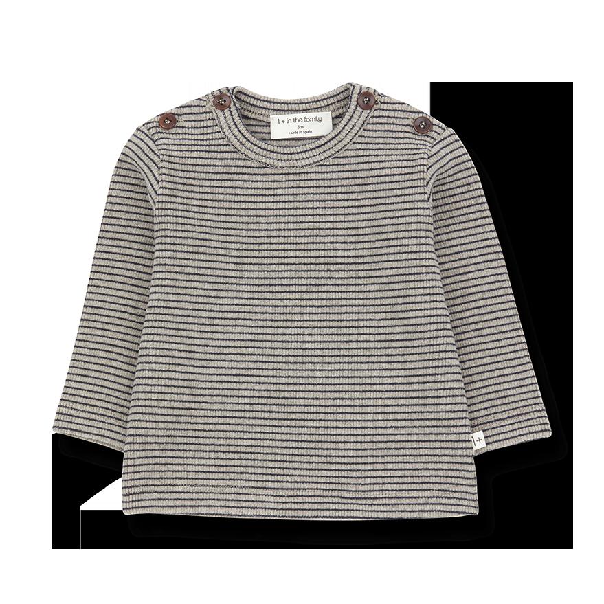 Jasper t-shirt beige/blue notte-1