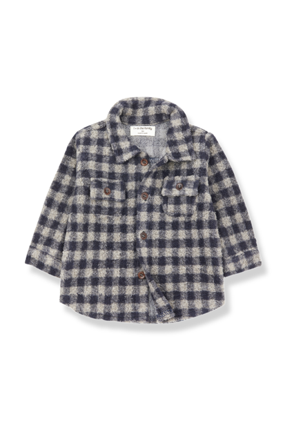 Pal shirt beige/blue notte