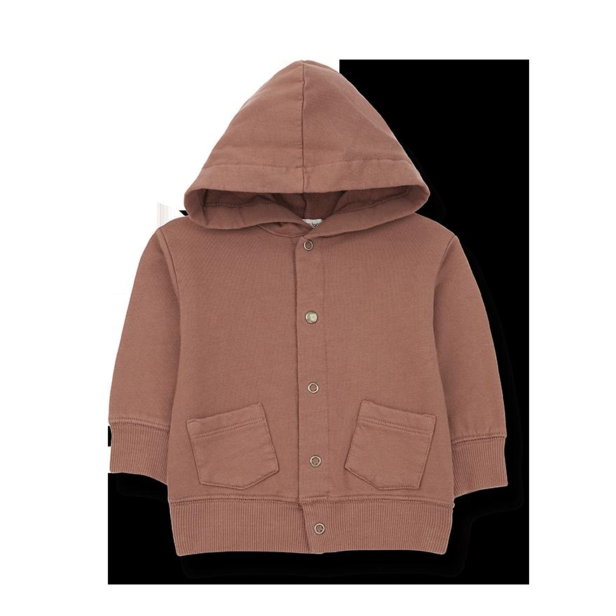 Boi kids hood jacket toffee-1