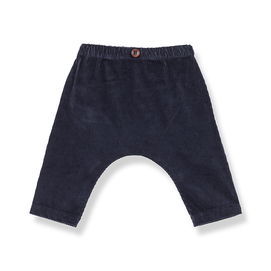 Molina kids baggy pants blue notte-1