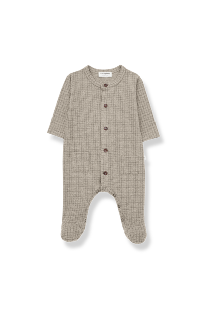 Teide jumpsuit with feet beige