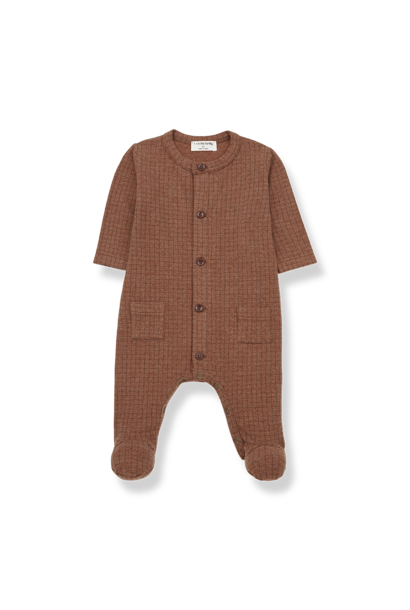 Teide jumpsuit with feet toffee