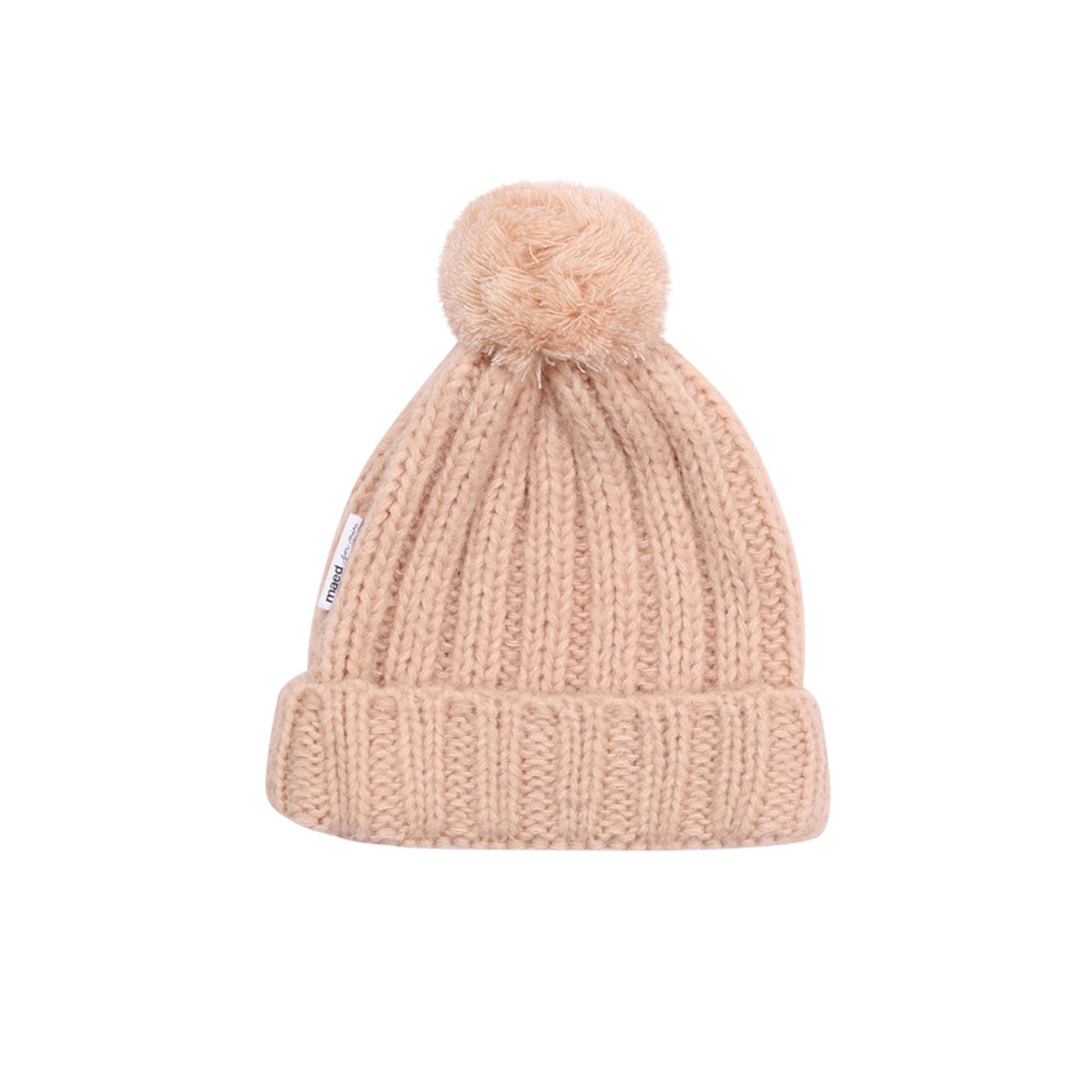 Knit hat peach parrot baby-1