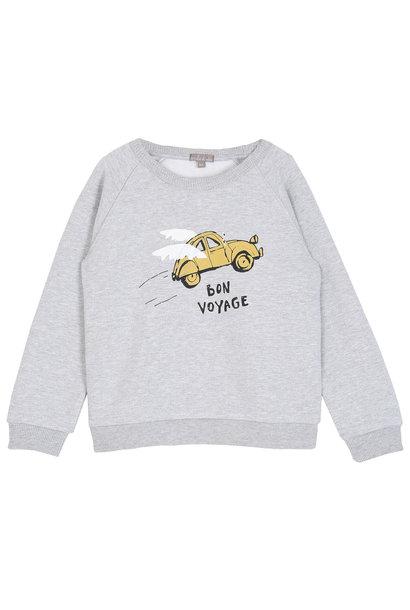 Sweatshirt gris chine bon voyage