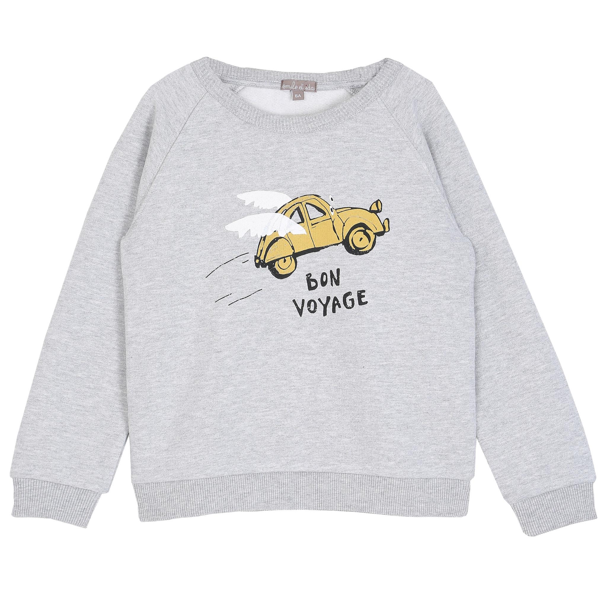 Sweatshirt gris chine bon voyage-1