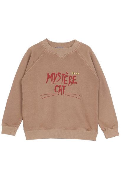 Sweatshirt kids marron glace mystere