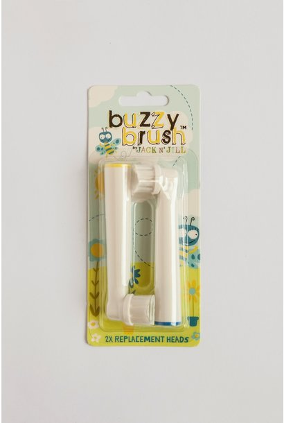 Jack n' Jill replacement 2 pack brushes buzzy brush