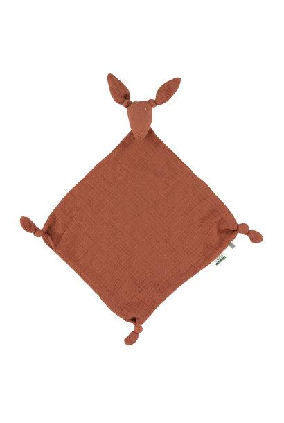 Kangoeroe muslin knuffeldoekje bliss rust