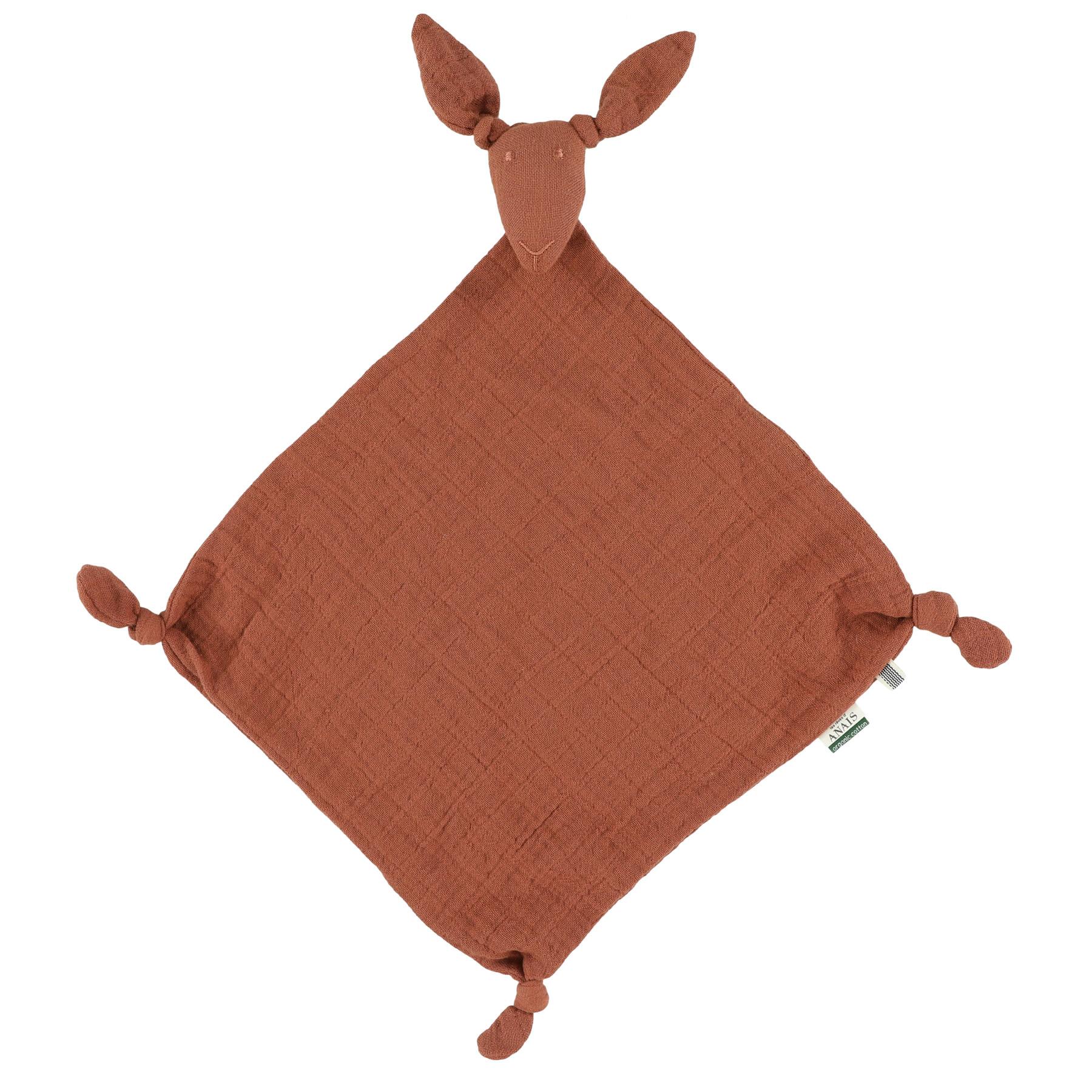 Kangoeroe muslin knuffeldoekje bliss rust-1