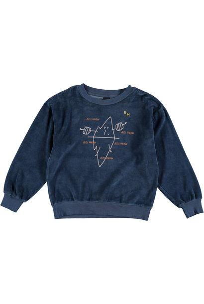 Sweatshirt velvet guardian navy kids