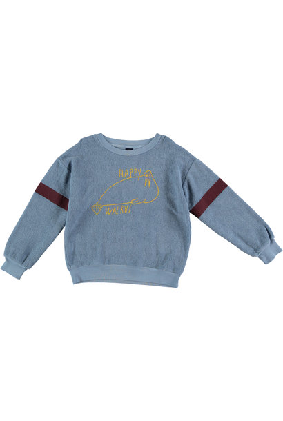 Sweatshirt walrus arctic blue kids