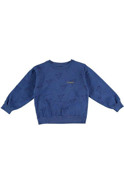 Sweatshirt big icebergs sea blue teens
