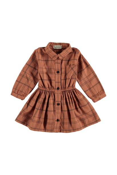 Dress baby tartan rust