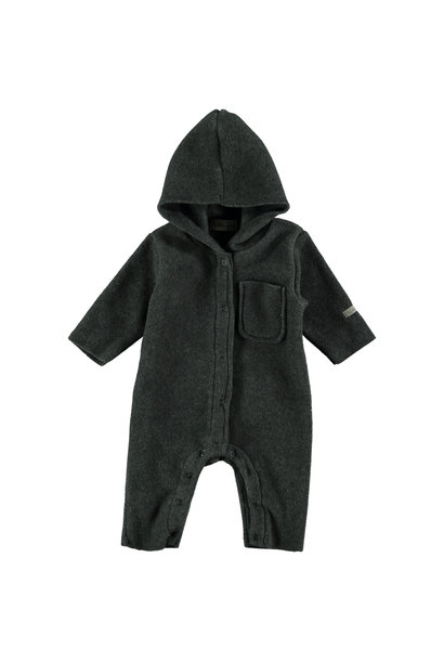 Fleece jumpsuit baby nordic grey