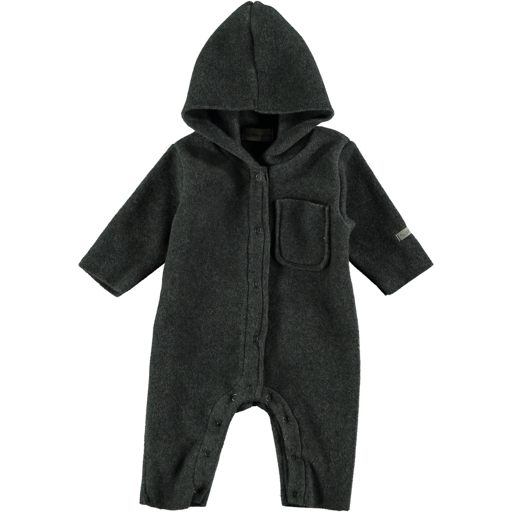 Fleece jumpsuit baby nordic grey-1