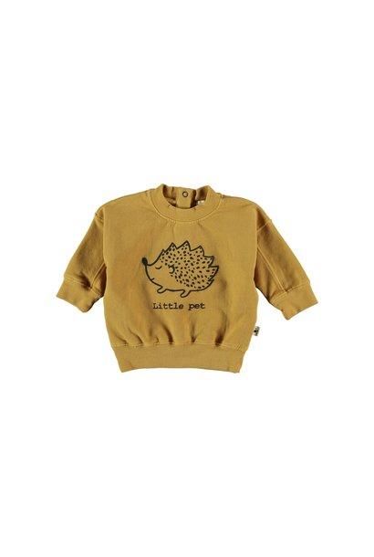 Sweatshirt baby organic fleece mustard