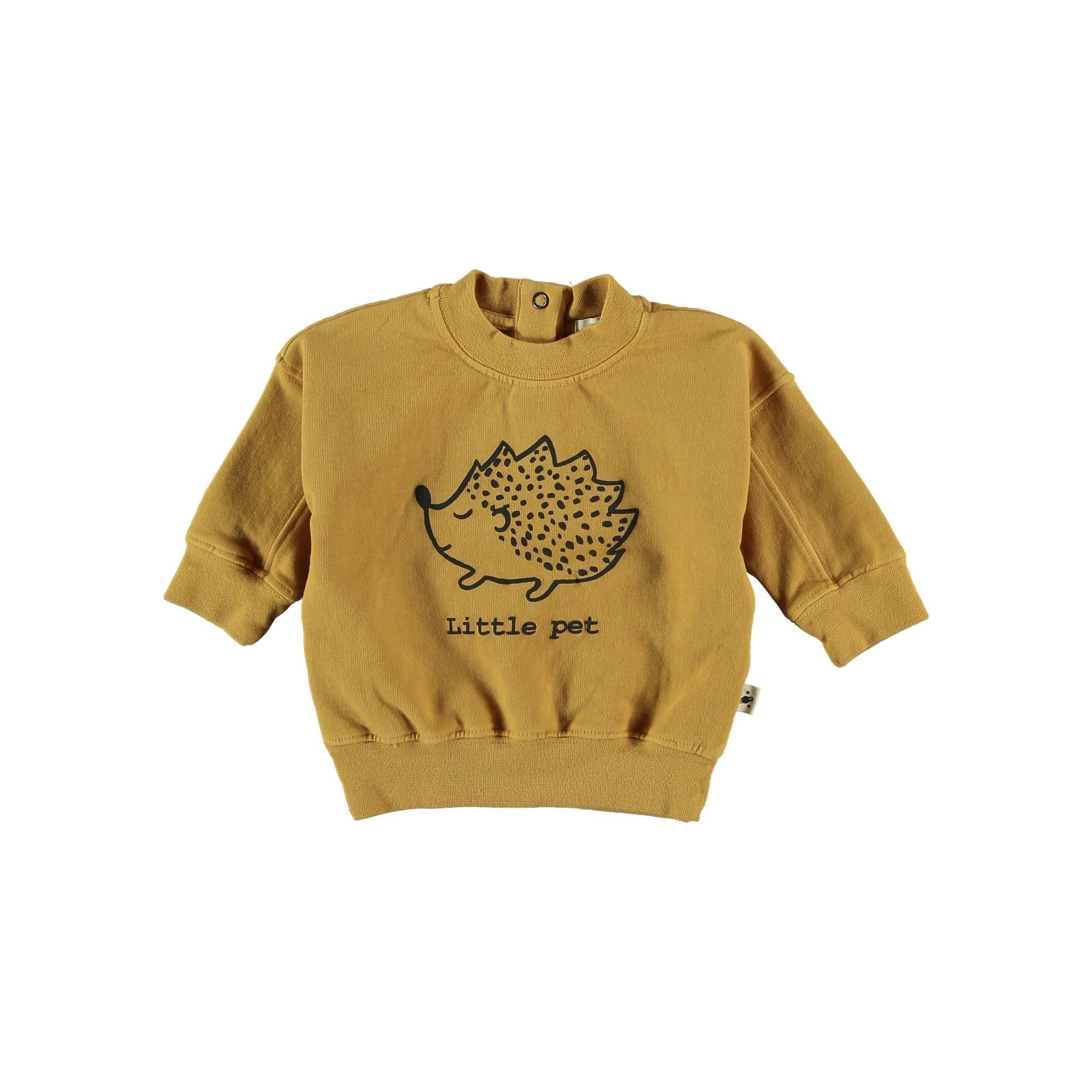 Sweatshirt baby organic fleece mustard-1